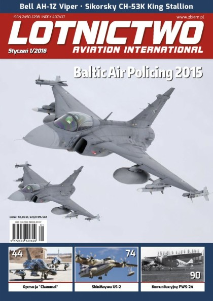 Lotnictwo Aviation International 1/2016 - okładka