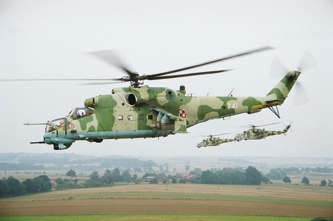 Do czasu wejścia do służby śmigłowców W-3PL Głuszec przez ćwierć wieku Mi-24W był najbardziej zaawansowanym typem śmigłowca szturmowego w Wojsku Polskim. Fot. Miłosz Rusiecki