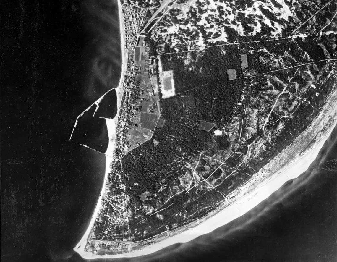 Hel na niemieckim zdjęciu lotniczym z września 1939 r.