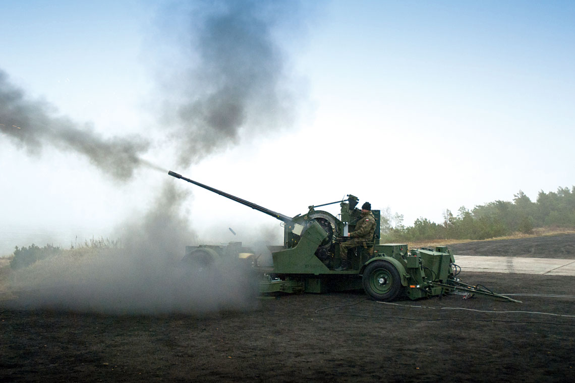 Demonstrator technologii ZSSP-35 Hydra podczas strzelań na poligonie w Ustce pod koniec 2011 roku.
