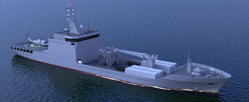 Wizja artystyczna zaopatrzeniowca Supply opracowana przez Remontowa Shipbuilding – rys. Remontowa Shipbuilding