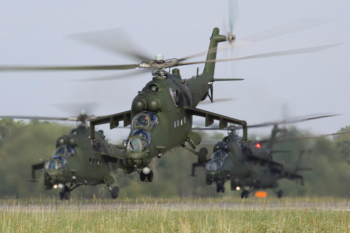 Śmigłowce Mi-24W w polskim lotnictwie wojskowym cz. II. Fot. Bartosz Bera