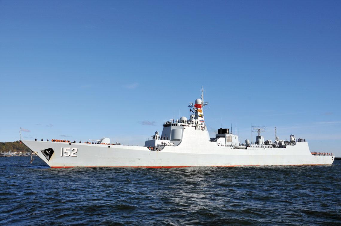 Chińskie okręty w Gdyni. Luyang II