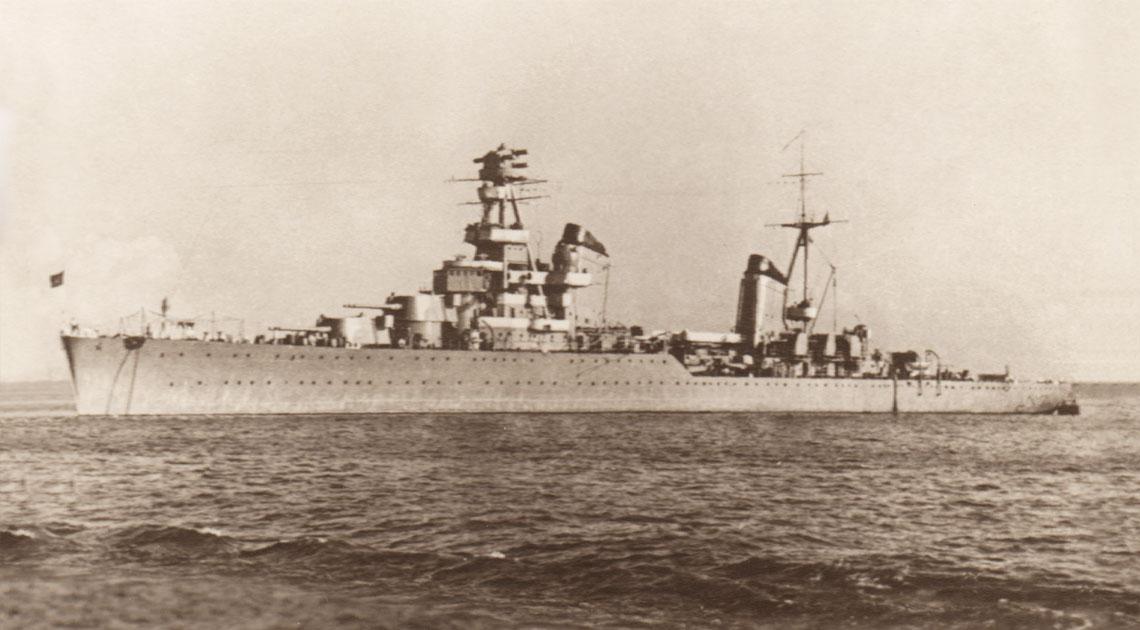 Krążownik lekki Kirow w 1940 r.