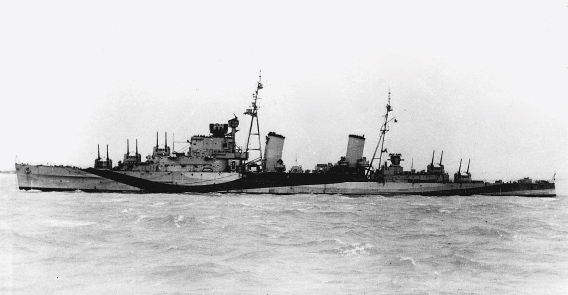 Brytyjski krążownik przeciwlotniczy Sirius. Fot. Royal Navy
