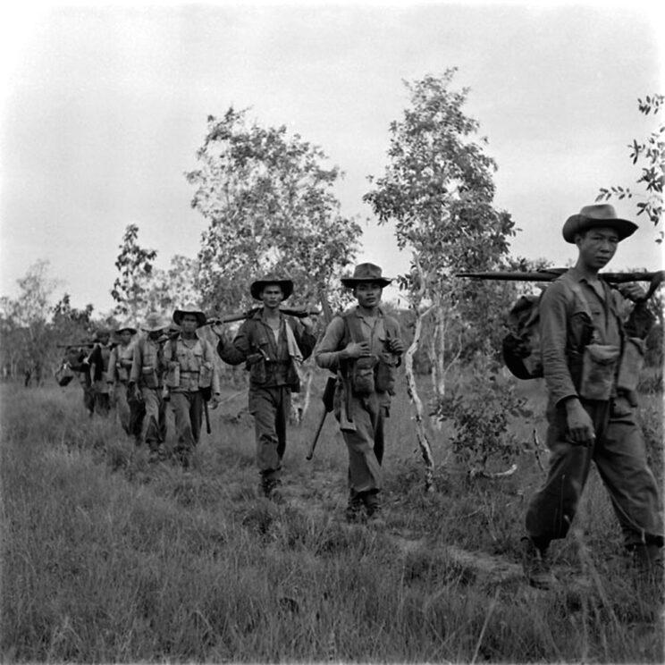 Paryż od początku prowadził wojnę w Indochinach rękami innych – zaangażowanie żołnierzy francuskich było dość ograniczone; główny ciężar spadł na żołnierzy kolonialnych, w tym samych Wietnamczyków.