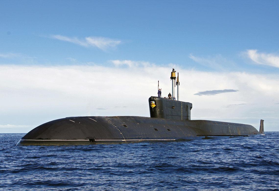 Strategiczny atomowy okręt podwodny Aleksandr Niewskij, druga jednostka projektu 955 Boriej. Fot. MO FR