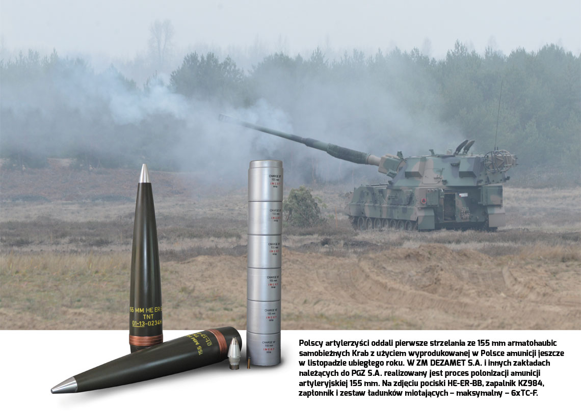 155 mm amunicja artyleryjska