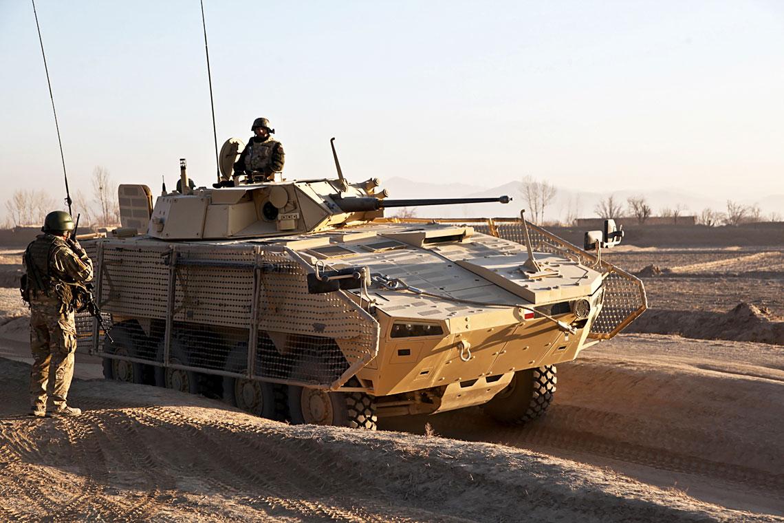 Amunicja 30×173 mm skonstruowana przez Nammo i produkowana przez MESKO S.A. jest wykorzystywana przez polskie kołowe wozy bojowe Rosomak.