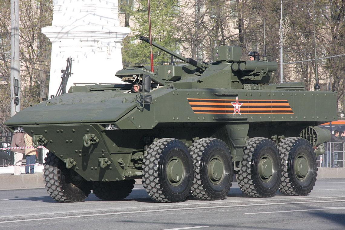 Rosyjskie kołowe wozy bojowe Bumierang