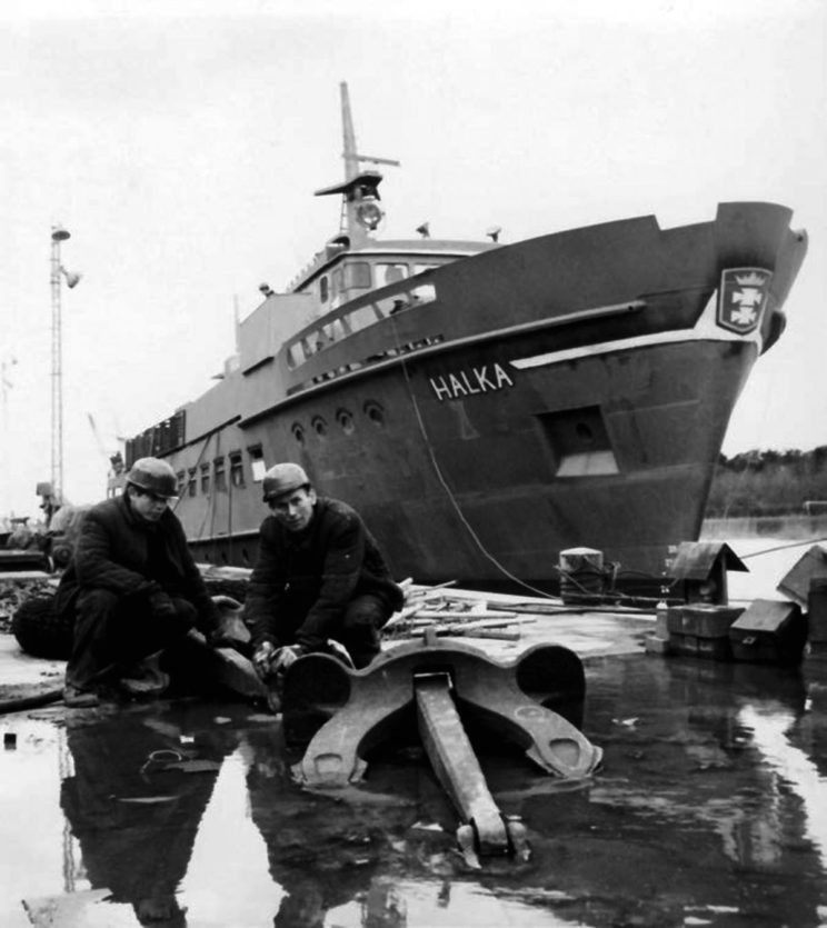 Prace wyposażeniowe na Halce, marzec 1967 r. Fot. Zbigniew Kosycarz ze zbiorów Autora