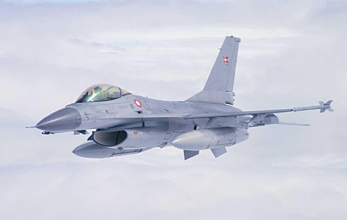 Dania była jednym zpierwszych użytkowników samolotów F-16 wEuropie, wsumie zakupiła 77 maszyn F-16A iB.