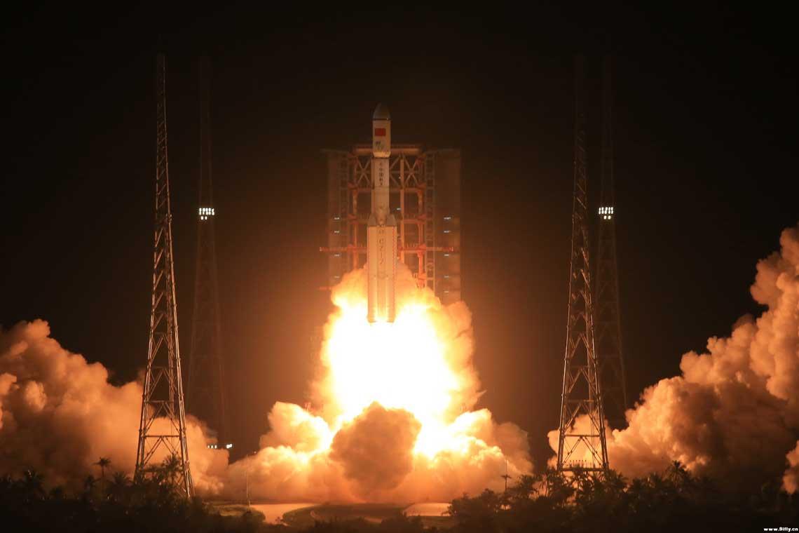 Z wyrzutni kompleksu startowego LC201 ośrodka kosmicznego Wenchang Satellite Launch Center na wyspie Hajnan wystartowała rakieta nośna Chang Zheng-7 w wersji 340.