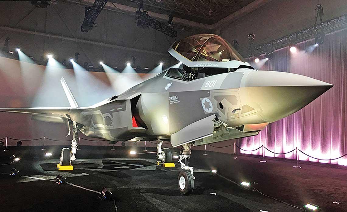 Pierwszy F-35I Adir zaprezentowany w zakładach Lockheed Martina w Fort Worth 22 czerwca.