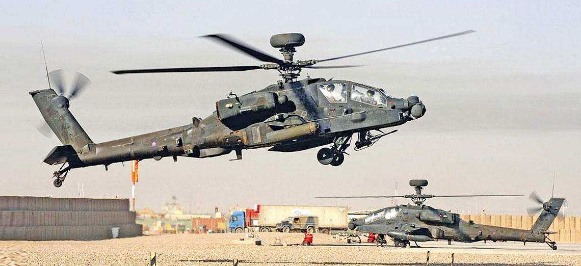W 1996 r. Wielka Brytania kupiła 67 śmigłowców Apache AH1 Mk 1, które będą eksploatowane do 2024 r. Ich debiutem bojowym była wojna w Afganistanie, śmigłowce operowały także nad Libią.