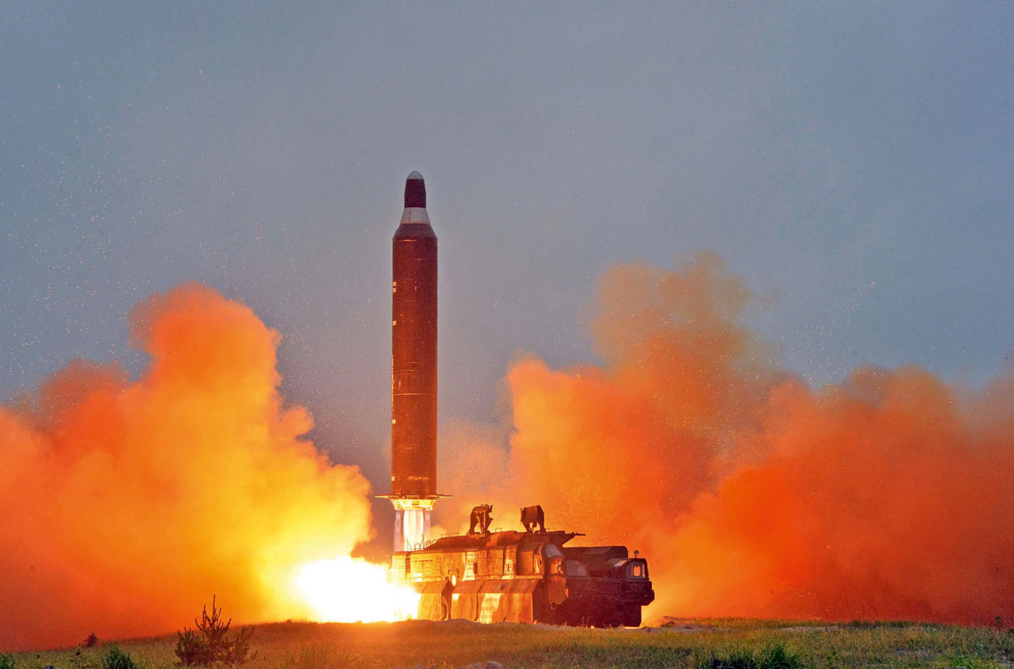 Moment odpalenia pocisku Hwaseong-10.