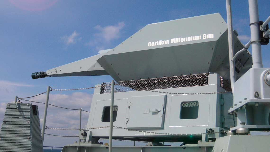 Armaty rewolwerowe Oerlikon. 35 mm automatyczna armata morska Oerlikon Millennium.