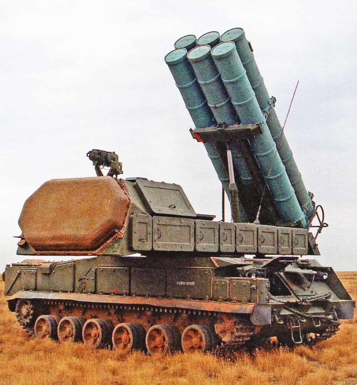 Wyrzutnia 9A331M systemu Buk-M3 w położeniu bojowym.