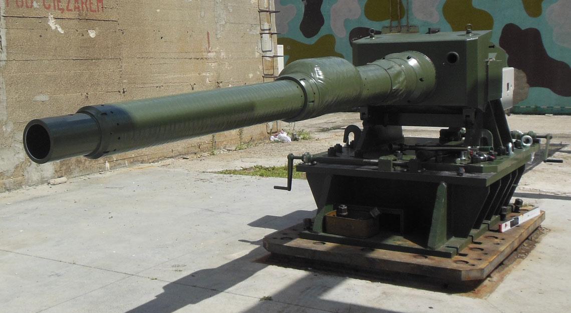 Stend do testowania amunicji czołgowej kalibru 120 mm.