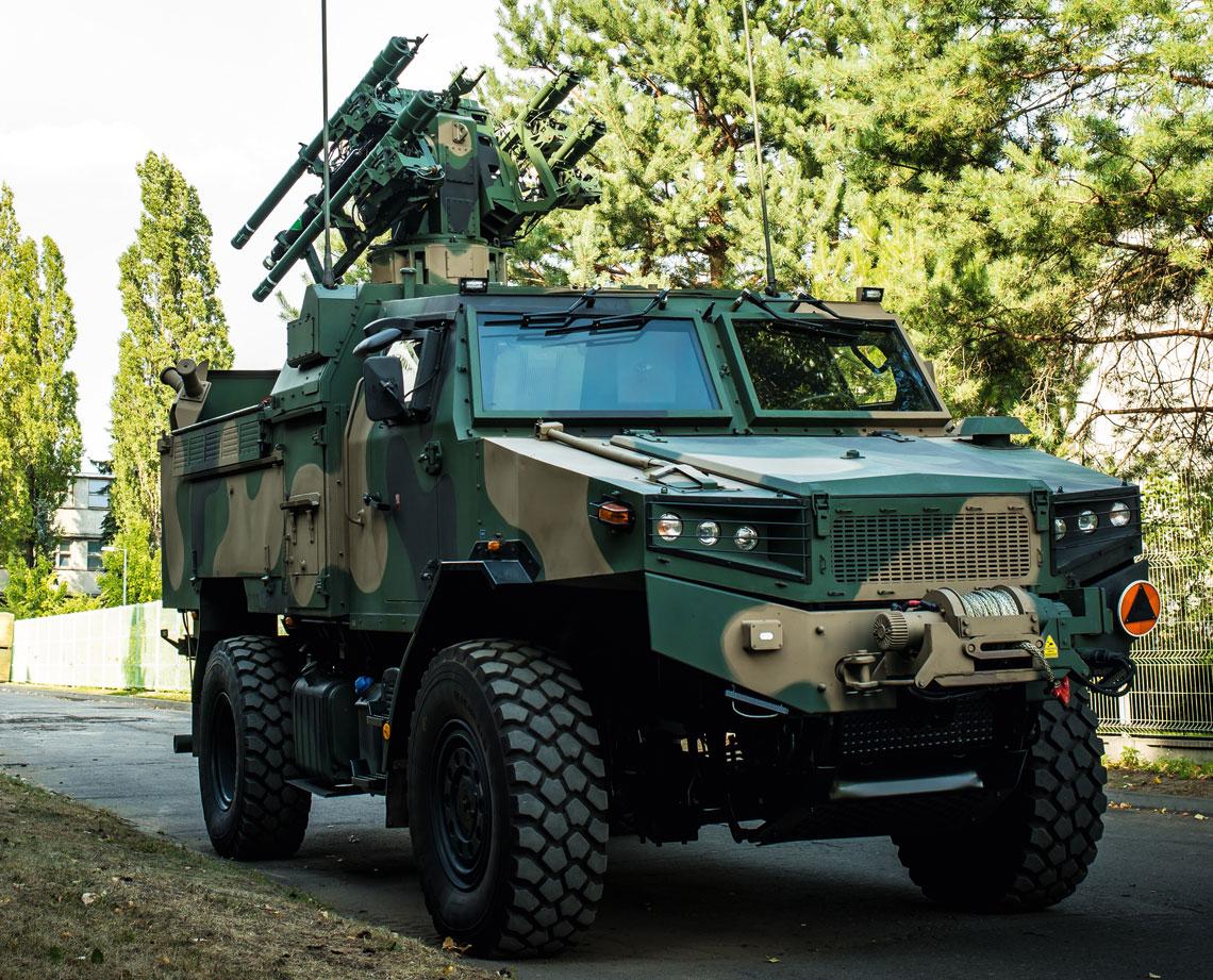 Jeden z dwóch wdrożeniowych egzemplarzy SPZR Poprad w docelowej konfiguracji niedługo przed przekazaniem wojsku.