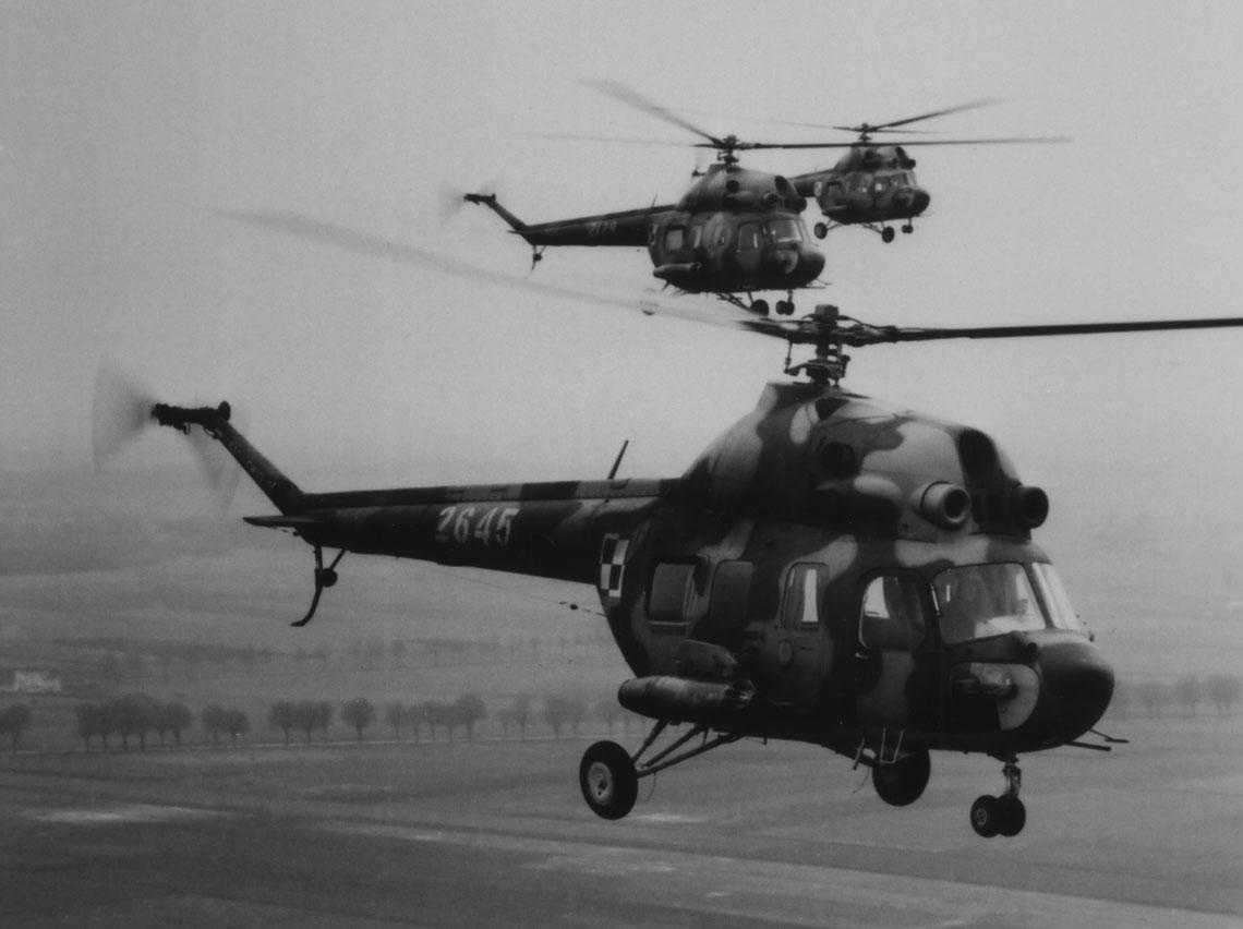 Śmigłowce Mi-2 w polskim  lotnictwie wojskowym cz.1. Fot. archiwum Autorów