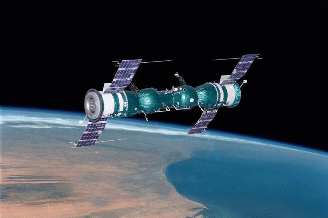 Połączone statki Sojuz-4 i Sojuz-5.