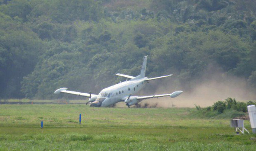 P-95 w Brazylii po wypadnięciu z pasa