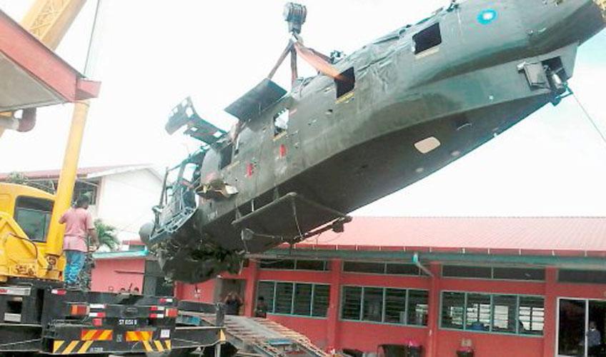 Rozbity malezyjski S-61