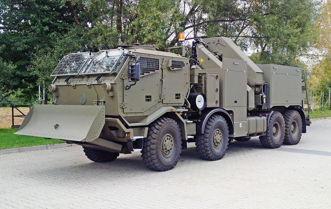 KWZT-3 dla Sił Zbrojnych Republiki Czeskiej powstał w wyniku współpracy Szczęśniak Pojazdy Specjalne z czeskimi podmiotami Tatra i VTUPV Vyškov.