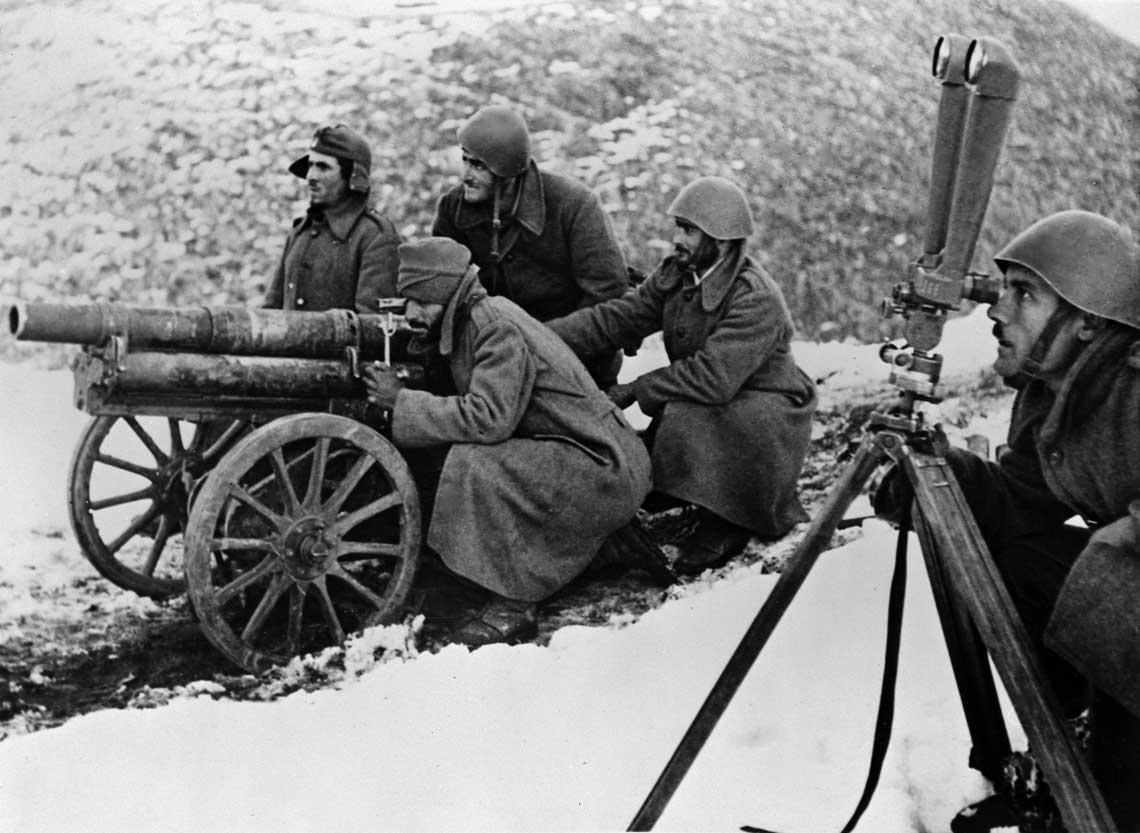 Rolę działa pułkowego pełniła w greckiej armii francuska armata górska 65 mm.