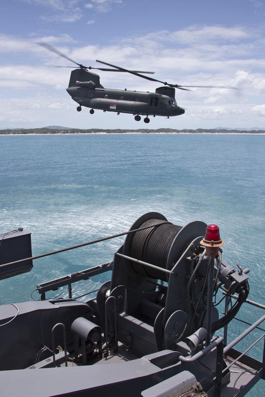 Ciężkie śmigłowce CH-47SD Chinook zostały zakupione w liczbie 16 egzemplarzy i obecnie są intensywnie eksploatowane, m.in. w różnorodnych operacjach na terenie Azji i Ameryki Północnej. Fot. Ministerstwo Obrony Australii.