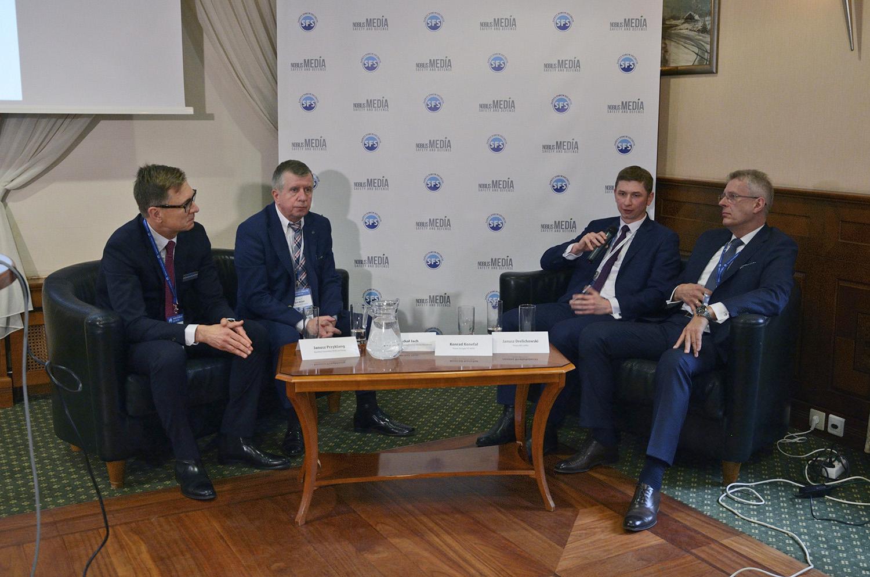 Na zdjęciu od lewej: Janusz Przyklang, Michał Jach, Konrad Konefał i Janusz Drelichowski.