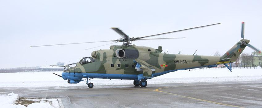 Senegalski Mi-24 wyremontowany w WZL nr 1 S.A. w Łodzi