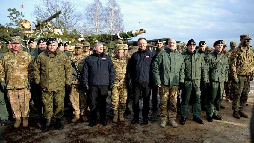 Uroczystość rozpoczęcia wspólnych, polsko-amerykańskich, ćwiczeń wojskowych.