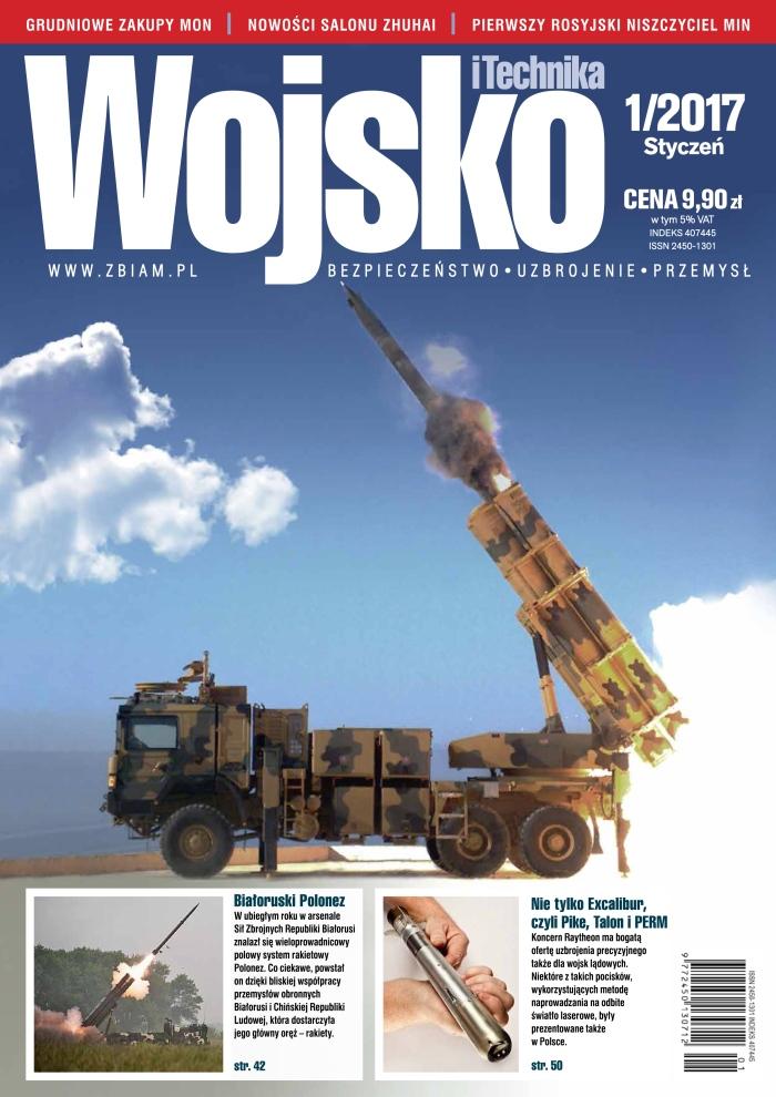 Zdjęcie okładkowe czasopisma Wojsko i Technika 1/2017