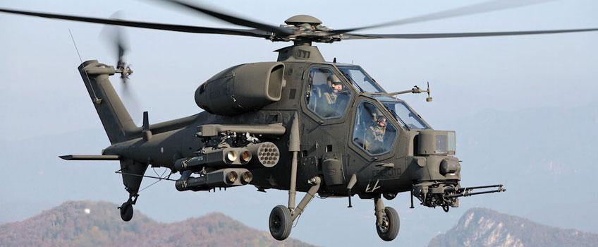 Śmigłowiec Agusta A129 Mangusta w locie