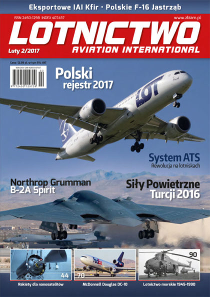 Okładka czasopisma Lotnictwo Aviation International 2/2017