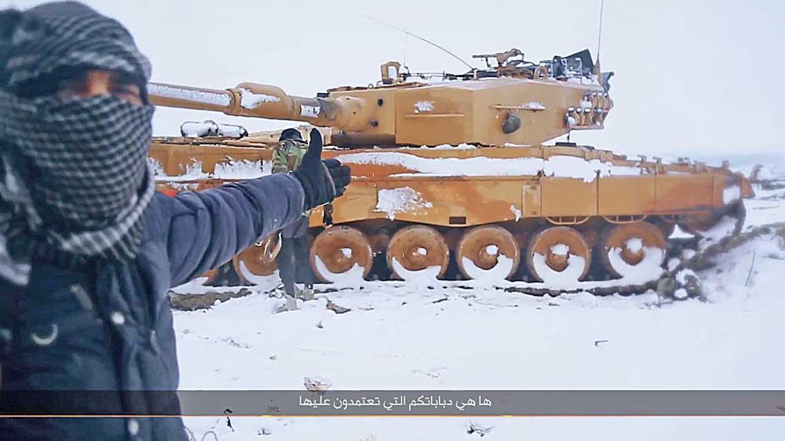 Leopardy 2 zdobyte przez terrorystów w Al-Bab