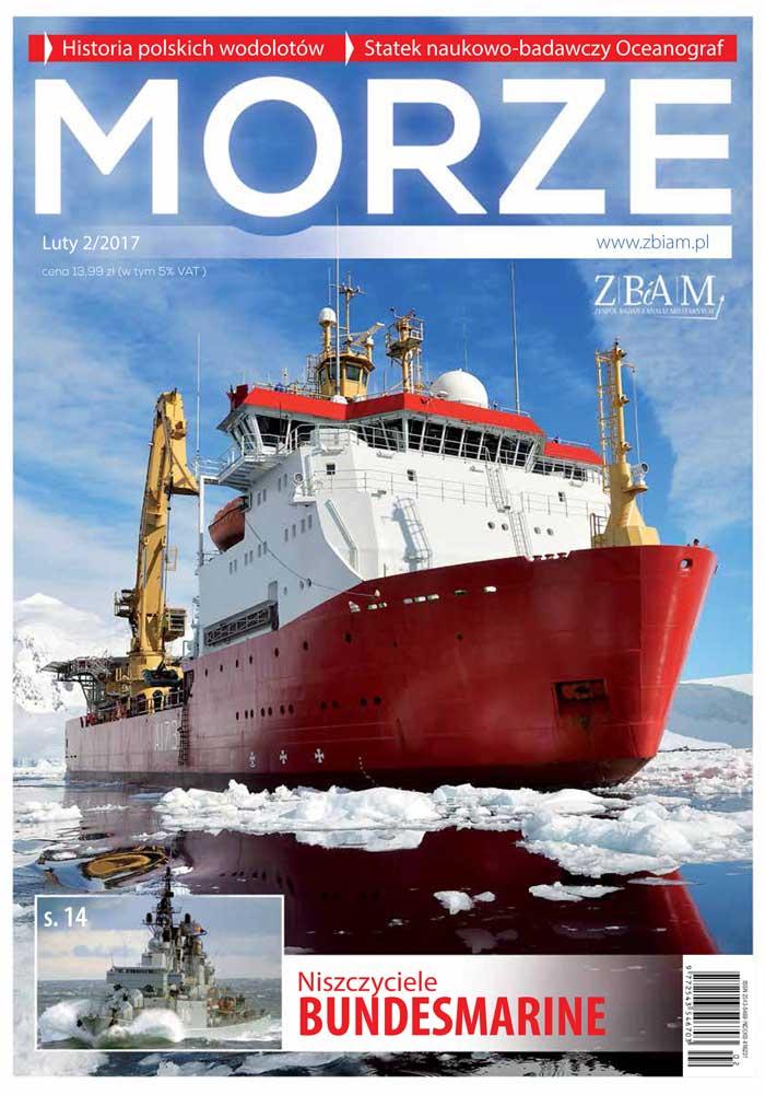 Okładka magazynu Morze 2/2017