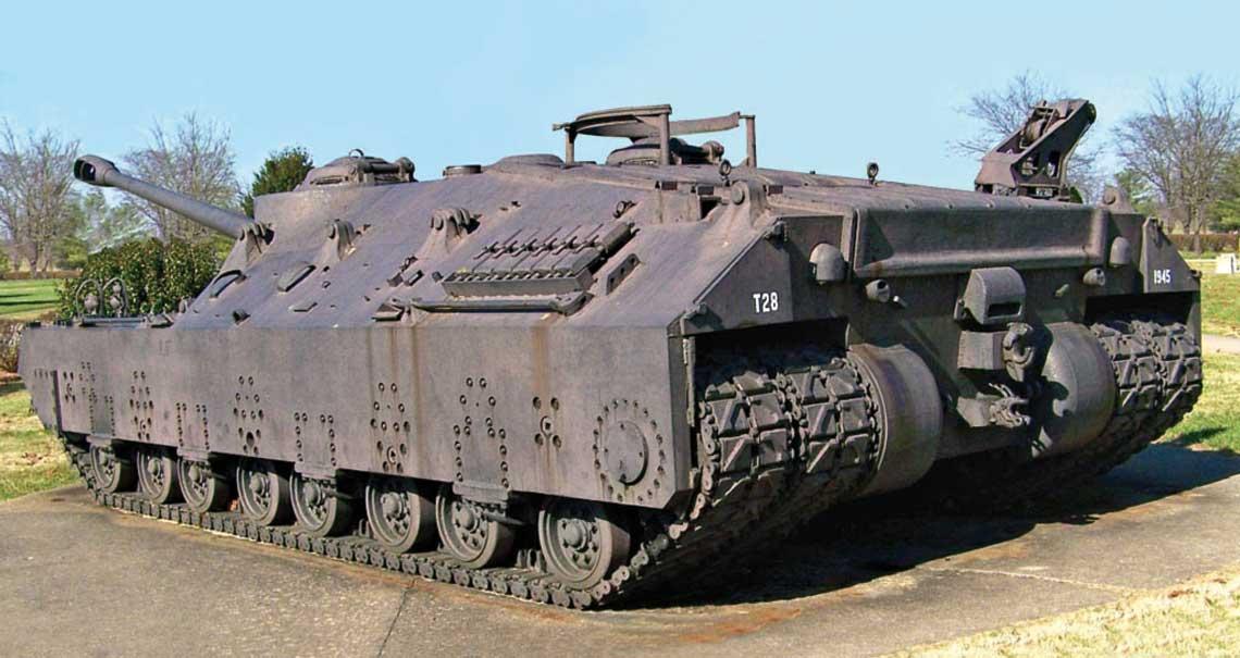 T28 z czterema gąsiennicami z 1945 r.