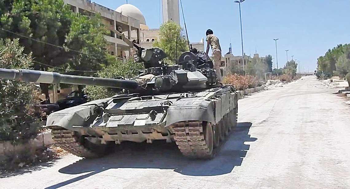 T-90 w rejonie Aleppo