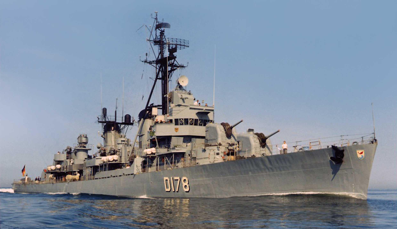 Niszczyciele Bundesmarine. Zerstörer 4, czyli dawny USS Claxton.