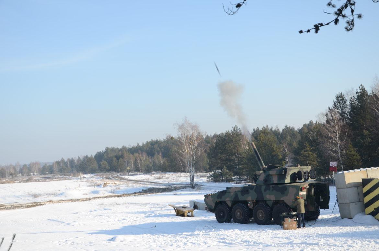 testy amunicji do moździerza samobieżnego Rak