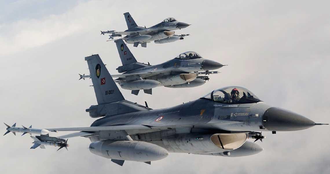 F-16 Siły Powietrzne Turcji w 2016 r.