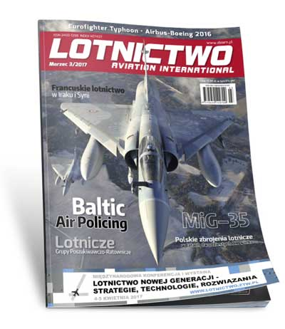 Okładka magazynu Lotnictow Aviation International 3/2017