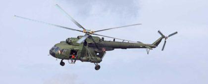 Mi17 w locie z 7. Eskadry Działań Specjalnych