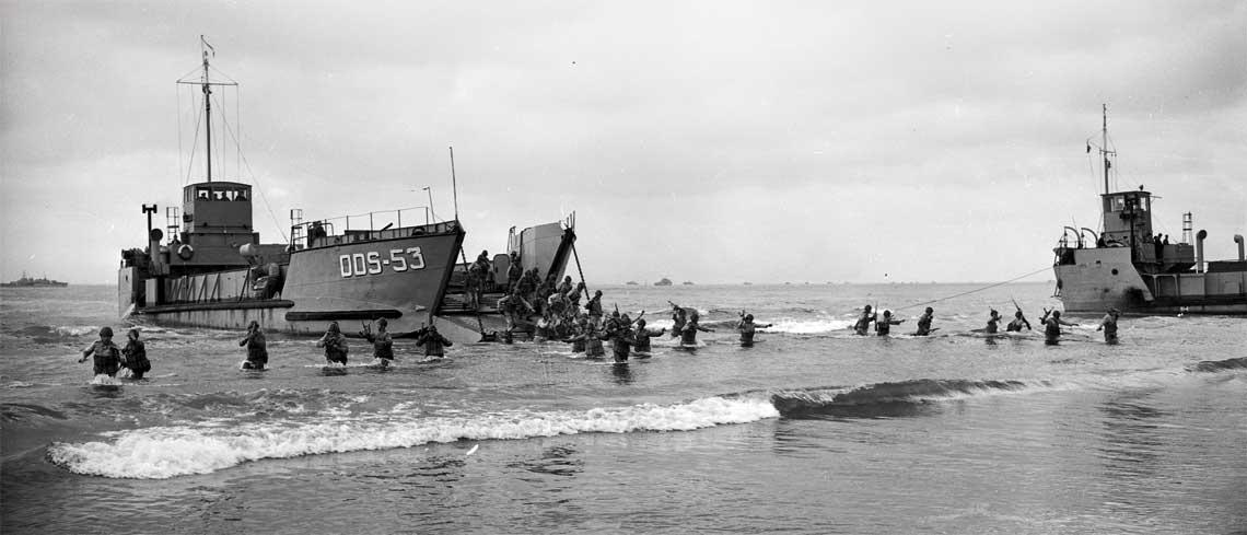 desant na plaży w Gdyni 1957 rok