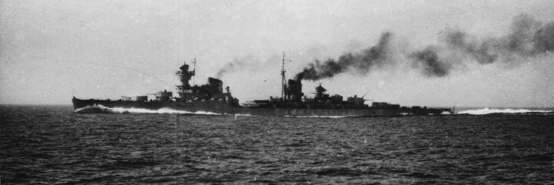 krążownik Żelezniakow podczas prób morskich