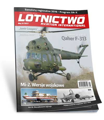 Lotnictwo Aviation International 5/2017 okładka