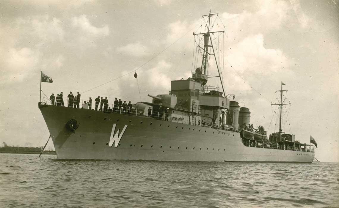 24-29 lipca 1934r. dwa polskie niszczyciele OORP Wicher (na zdjęciu) i Burza były z wizytą w Leningradzie.